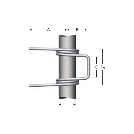Double torsion spring according to DIN 2089