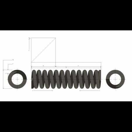 Muelle de carga pesada M99MC0692