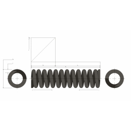 Muelle de carga pesada M99MC0898