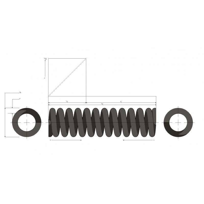Muelle de carga pesada M99MC0915