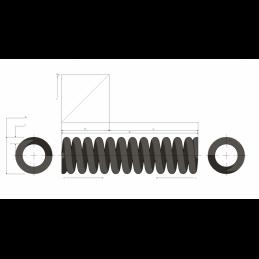 Muelle de carga pesada M99MC2373
