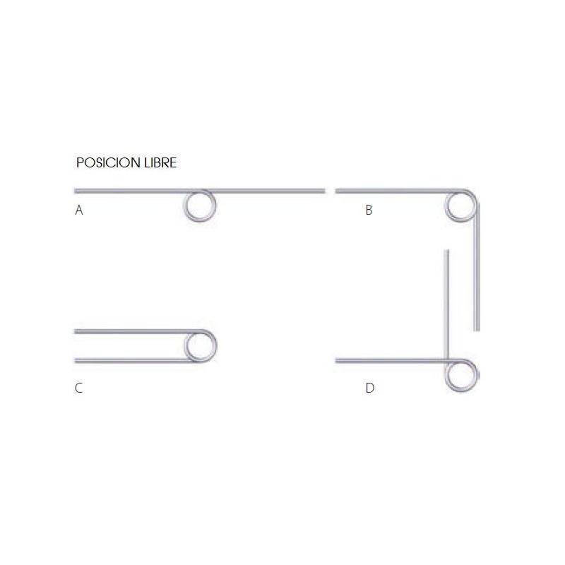 Muelle torsion s/DIN 2089 M06LE8322