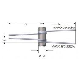 Muelle torsion s/DIN 2089 M06LE8348