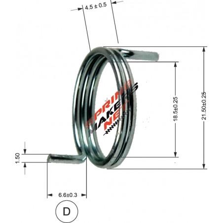 Muelle maneta cerradura M38MFPF2128