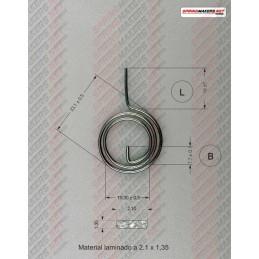 Muelle maneta cerradura M38MFPF2132