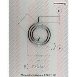 Muelle maneta cerradura M38MFPF2139 -SPRINGMAKERS.NET