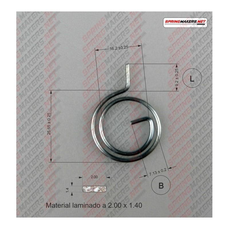 Lock lever spring M38MFPF2142