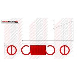 Muelle tracción M02MCPF4919 DIN2089/1.0*10.0/31.9