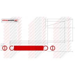 Muelle tracción M02MCPF4918 DIN2089/0.7*6.8/52.8