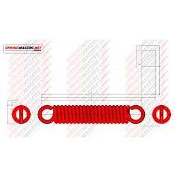 Muelle tracción M02MCPF4916 DIN2089/2.5*12.5/67.5