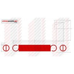 Muelle tracción M02MCPF4915 DIN2089/0.8*10.0/66.0