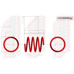 Muelle de Compresión extremos abiertos sin rectificar M01MCPF5025