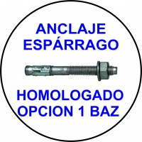 ANCLAJE ESPARRAGO HOMOLOGADO OPCION 1 BAZ